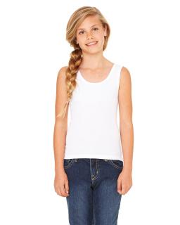 Girl's Stretch Rib Tank