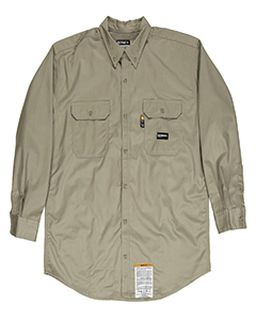 Mens Flame-Resistant Button-Down Work Shirt-Berne