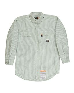Mens Flame-Resistant Down Plaid Work Shirt-