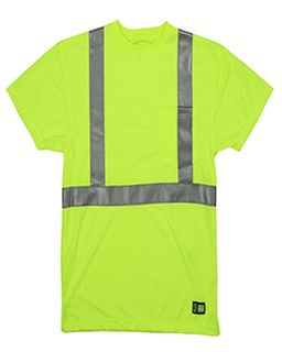 Mens Hi-Vis Class 2 Performance Pocket T-Shirt-