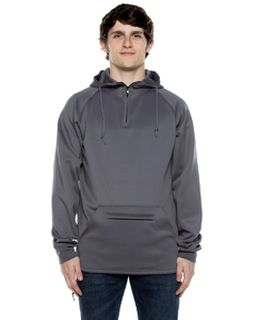 Unisex 9 Oz. Polyester Air Layer Tech Quarter-Zip Hooded Sweatshirt-