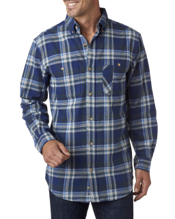 Mens Yarn-Dyed Flannel Shirt-