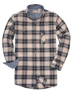 Mens Tall Yarn-Dyed Flannel Shirt-