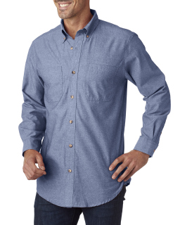 Mens Yarn-Dyed Chambray Woven-Backpacker