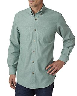 Mens Tall Yarn-Dyed Chambray Woven-