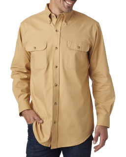 Mens Solid Flannel Shirt-Backpacker