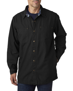 Mens Canvas Shirt Jacket With Flannel Lining-