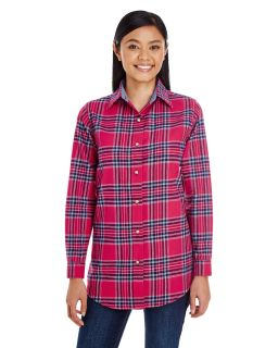 Ladies Yarn-Dyed Flannel Shirt-