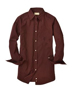 Ladies Nailshead Long-Sleeve Woven Shirt-Backpacker