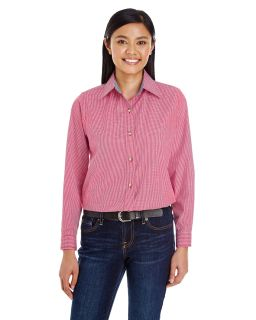 Ladies Yarn-Dyed Micro-Check Woven-