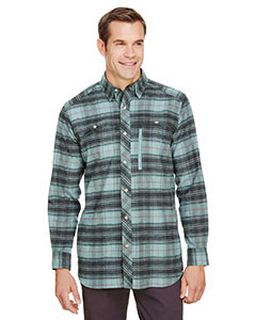 Mens Tall Stretch Flannel Shirt-