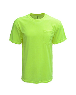 Adult Pocket Tee-Bright Shield