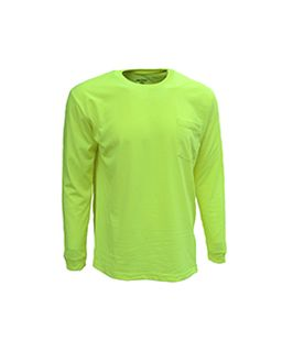Adult Long-Sleeve Pocket Tee-Bright Shield
