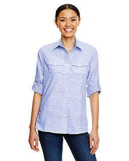 Ladies Texture Woven Shirt-Burnside