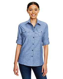 Ladies Chambray Woven Shirt-Burnside