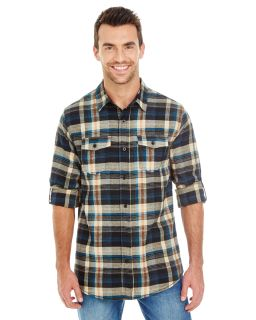 Mens Plaid Flannel Shirt-Burnside