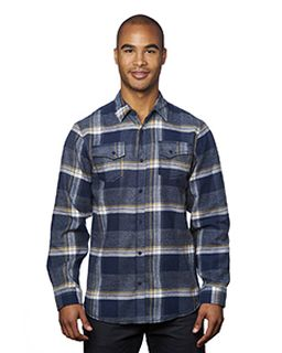 Mens Snap-Front Flannel Shirt-Burnside