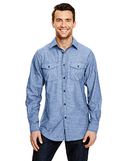 Mens Chambray Woven Shirt-Burnside