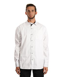 Mens Peached Poplin Woven Shirt-