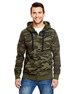 Mens French Terry Full-Zip Hooded Sweatshirt-