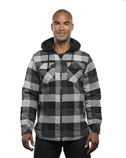 Mens Hooded Flannel Jacket-Burnside