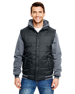 Adult Fleece Sleeved Puffer Vest-Burnside
