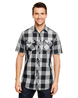 Mens Buffalo Plaid Woven Shirt-Burnside