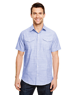 Mens Textured Woven Shirt-Burnside