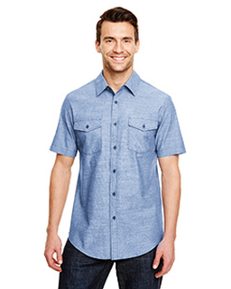 Mens Chambray Woven Shirt-