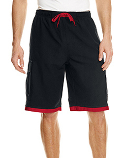 Mens Striped Swim Short-Burnside
