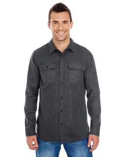 Mens Solid Flannel Shirt-