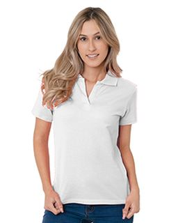 Juniors 6.2 Oz., 100% Cotton V-Neck Polo-Bayside