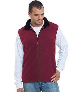 Unisex Full-Zip Polar Fleece Vest-Bayside