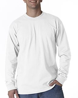Adult 6.1 Oz., Cotton Long Sleeve T-Shirt-Bayside