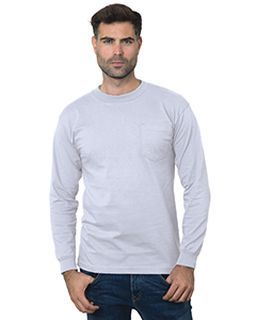 Unisex Union-Made Long-Sleeve Pocket Crew T-Shirt-Bayside