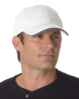 100% Washed Cotton Unstructured Sandwich Cap-