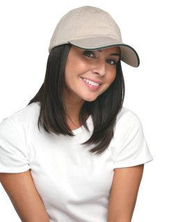 100% Washed Cotton Unstructured Sandwich Cap-Bayside