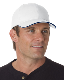 100% Brushed Cotton Twill Structured Sandwich Cap-