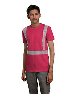 5.4 Oz., 100% Cotton Hi-Visibility Segmented Striping T-Shirt-Bayside