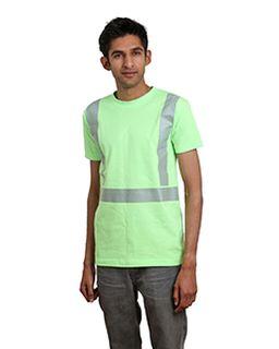 5.4 Oz., 50/50 Hi-Visibility Segmented Striping T-Shirt-