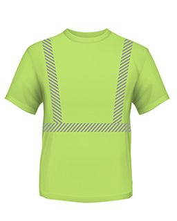 4.5 Oz., Polyester Performance Hi-Visibility Segmented Striping T-Shirt-Bayside
