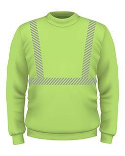 9.5 Oz., 80/20 Hi-Visibility Segmented Striping Crewneck Sweatshirt-Bayside