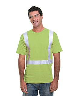 4.5 Oz., Polyester Performance Hi-Visibility Solid Striping T-Shirt-