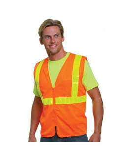 Mesh Safety Vest - Orange