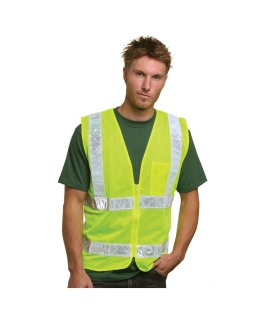 Mesh Safety Vest - Lime-