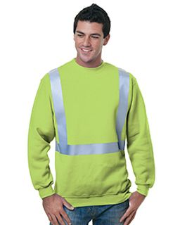 80/20 Heavyweight Hi-Visibility Solid Striping Crewneck Sweatshirt-