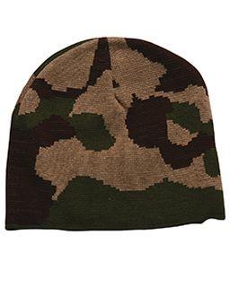 100% Acrylic Camouflage Beanie-