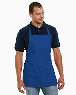 65% Polyester / 35% Cotton Deluxe Medium Bib Apron-