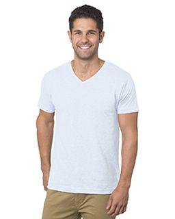 Unisex 4.2 Oz., Fine Jersey V-Neck T-Shirt-