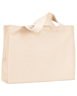 12 Oz., Cotton Canvas Medium Gusset Tote-Bayside